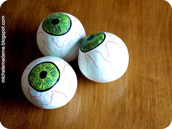 Michele Made Me eyeball juggling balls