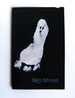 Christina Williams  halloween footprint ghost