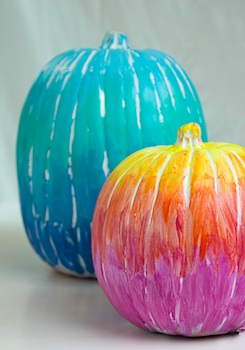 Papery And Cakery ombre pumpkin painting