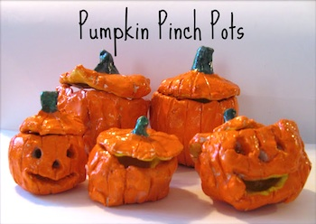 The Chocolate Muffin Tree pumpkin pinch pots