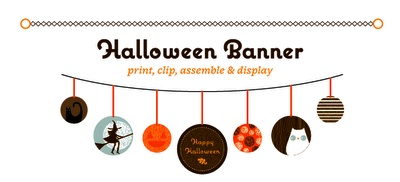 Jeanie & Jewel halloween printable banner