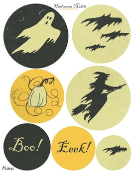 Todays Mama free printable halloween mobile