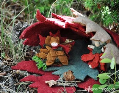 Imagine Childhood maple leaf house