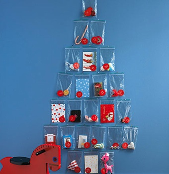 homemade advent calendar ideas advent calendar idea plastic baggie tree