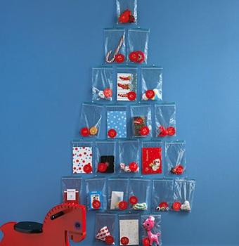 homemade advent calendar ideas advent calendar idea plastic baggie tree