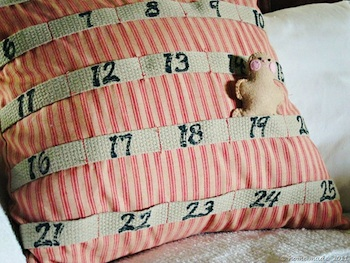 homemade advent calendar ideas advent calendar pocket pillow