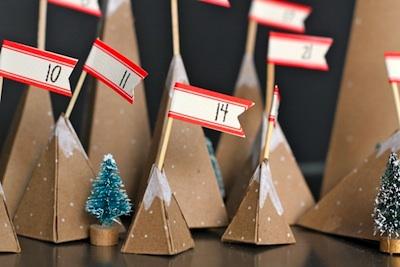 homemade advent calendar idea paper mountain advent calendar tutorial diy