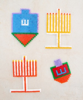 Creative Jewish Mom hama bead hannukah ornaments