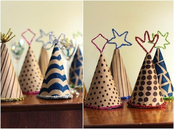 new year's party hats easy to make tutorial