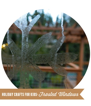 frosted windows with epsom salts paint