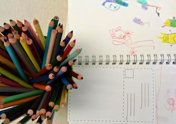 free printable postcard for children's art