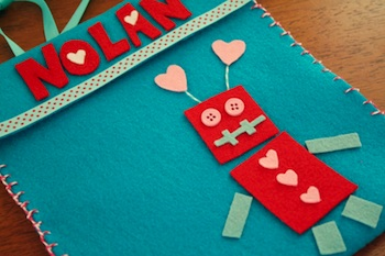 valentine's day chair pockets tutorial diy
