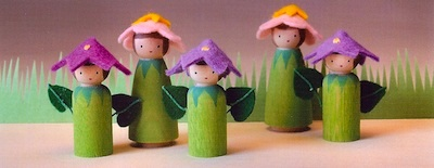Making Peg Dolls flower fairy peg dolls