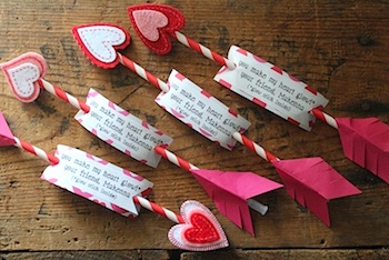 15 cute homemade wordplay valentine card ideas things to make and scrumdilly do valentine diy glowing cupids arrows solutioingenieria Images