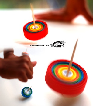 Krokotak spinning tops made from paper