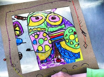 Small Hands Big Art Blog owl suncatcher art projects for kids