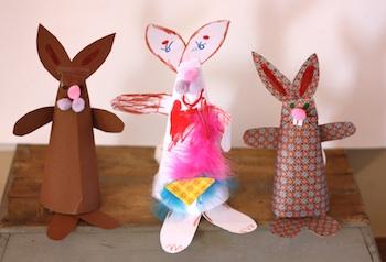 Buzzmills paper cone bunny rabbit paper craft