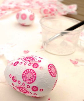 decoupage easter egg craft