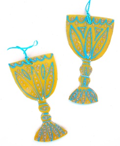 passover craft wine goblet decorations recycled plastic craft