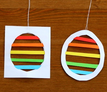 paper egg silhouettes tutorial