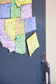 Natalme diy map magnets
