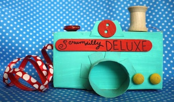 cardboard box craft play camera
