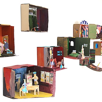 Cardboard Box Craft Famous Art Diorama