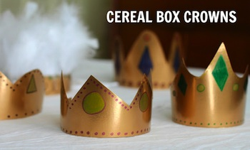 cardboard box craft cereal box crowns