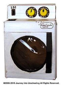 cardboard box craft washing machine