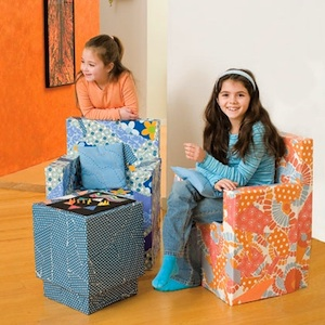 cardboard box craft furniture