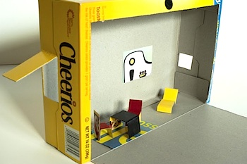 Made By Joel cereal box dollhouse