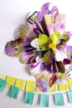 recycled newspaper flower decoration recycled craft