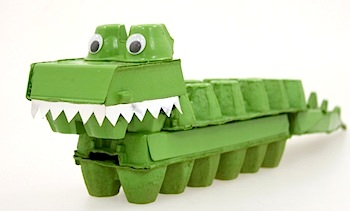 egg carton craft for kids egg carton crocodile