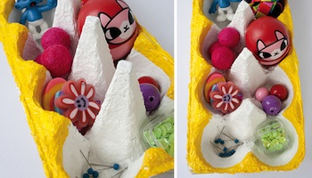 egg carton craft for kids painted egg carton organizers