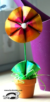 toilet paper roll craft flowers