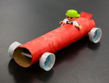 toilet paper roll craft race car craft