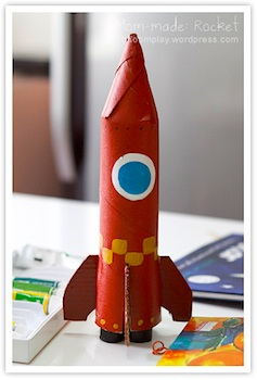 cardboard tube craft rocket craft