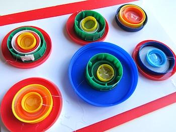 plastic lid art kandinsky