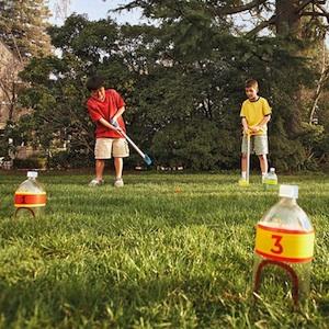 plastic bottle miniature golf