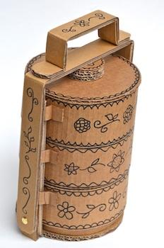 cardboard craft tiffin carrier