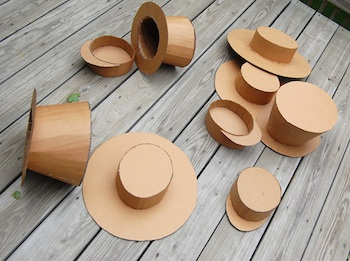 cardboard craft hats diy tutorial