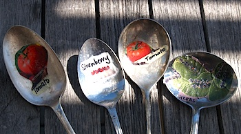 Silver spoon garden markers The Crafty Crow