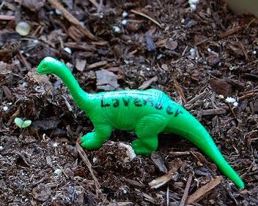 The Craftinomicon dinosaur garden markers