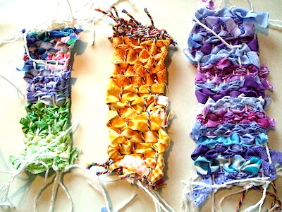 weaving tutorial for kids weaving with fabric scraps