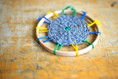 circular weaving diy tutorial woven coaster