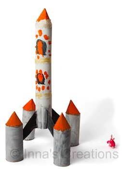 toilet paper roll craft rocket space ship