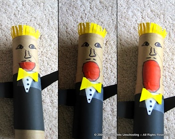 Journey Into Unschooling cardboard tube puppet craft