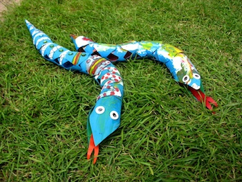 toilet paper roll craft snake