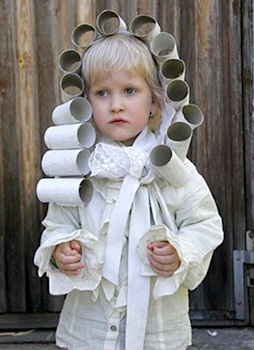 toilet paper roll craft wig costume