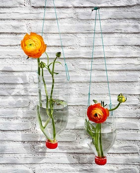 plastic bottle craft hanging vase